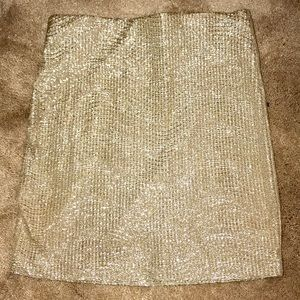 BCBGGENERATION: metallic skirt